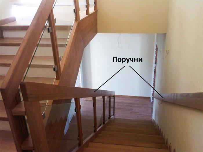 Поручни для лестницы с двух сторон