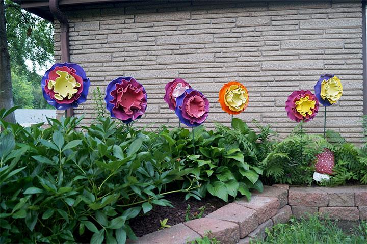 Цветы из виниловых пластинок