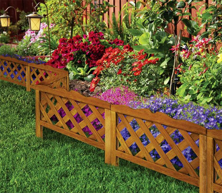 Деревянный заборчик для цветника