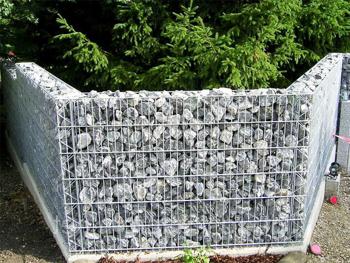 Ограда из габиона