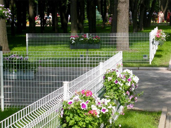 Парковые ограждения из сварной сетки
