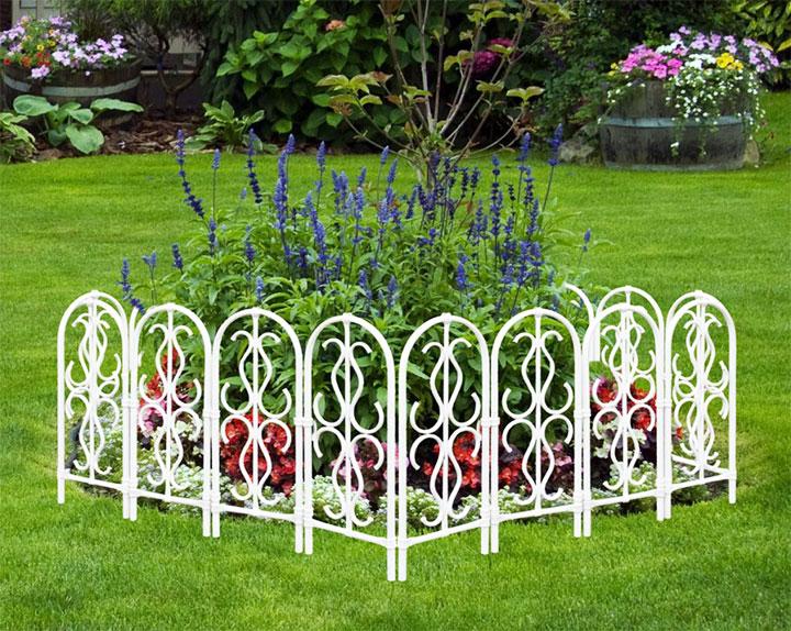 Металлическая ограда для клумбы