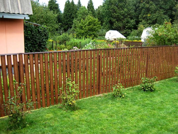 Бюджетная ограда из штакетника
