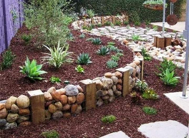 Каменная ограда для палисадника