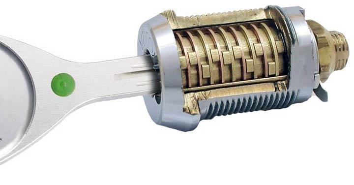 Дисковый цилиндровый механизм замка