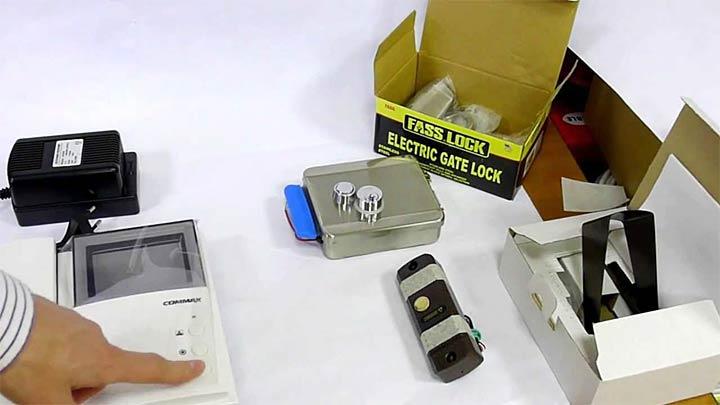 Комплектация электромеханического замка